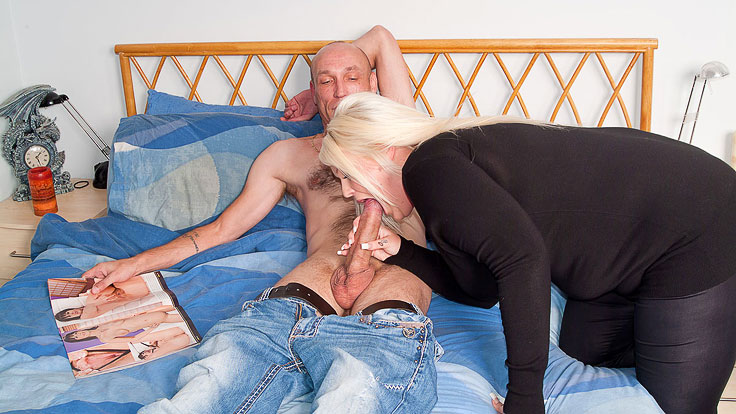Blonde plumper nails husband